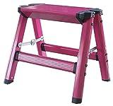 Lightweight Single Step Aluminum Step Stool in Neon Pink
