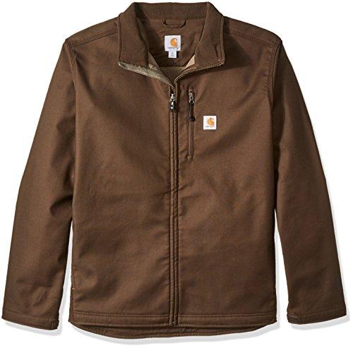 Carhartt Men's Big & Tall Pineville Soft Shell Jacket, Dark Coffee, 2X-Large/Tall Carhartt Duck Hooded Jacket
