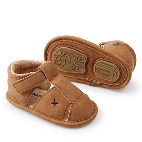 Jamicy® Babyschuhe, Kleinkind Jungen Mädchen Sommer Casual Flache Anti-Rutsch-Weiche Sohle Sandalen Schuh Khaki