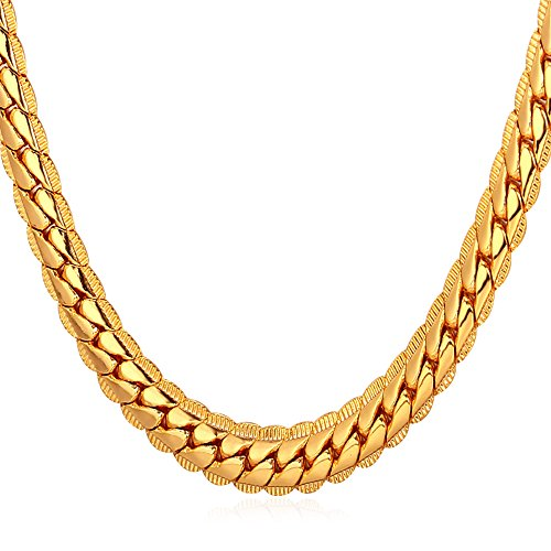 U7 18K Gold Plated Necklace Wi
