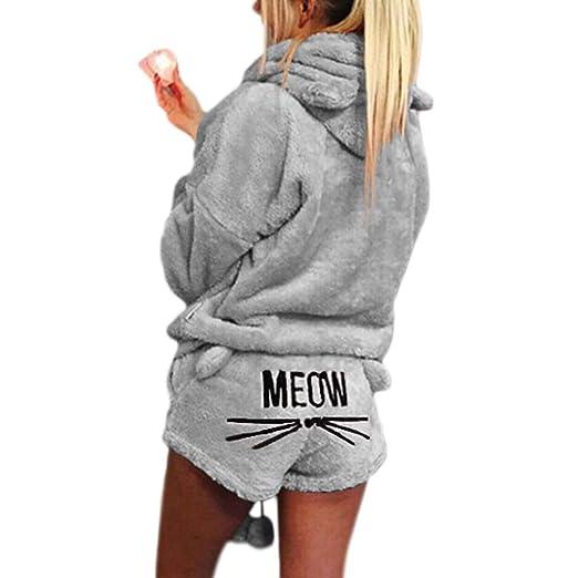 siwetg - Pijama de Invierno para Mujer y niña, Talla Grande ...