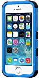 MyBat Cell Phone Case for Apple iPhone 5s/5 - Retail Packaging - Black/Blue