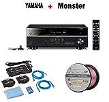 Yamaha Expandable Audio & Video Component Receiver,Black (RX-V583BL) + Monster Home Theater Accessory Bundle + Monster - Platinum XP 50' Compact Speaker Cable Bundle