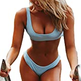 Noon-Sunshine Sexy Bikini Swimsuits Women Swimsuit Set Bikini Solid Halter Top Beach Suits fbiquini,S