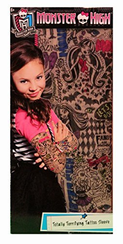 Monster High Totally Terrifying Tattoo Sleeves Pretend Play Colorful Design (Laguna Blue Monster High)