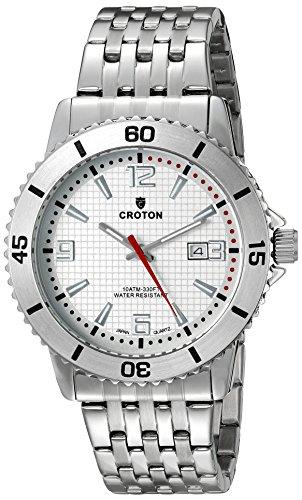 Croton Mens Quartz Watch - CROTON Men's CA301288SSSL Analog Display Quartz Silver Watch