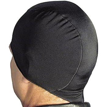WickIt! TM Motorcycle Helmet Liner - Skull Cap - Doo Rag in Classic Black
