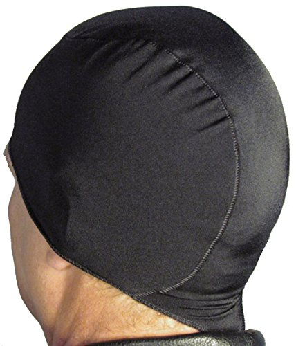 WickIt! ™ Motorcycle Helmet Liner - Skull Cap - Doo Rag in Classic Black (Xxl Skull Cap)