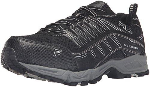Fila Mens Memory AT Peak Steel Toe Trail Runner Black/Black/Metallic Silver i1vAadttm