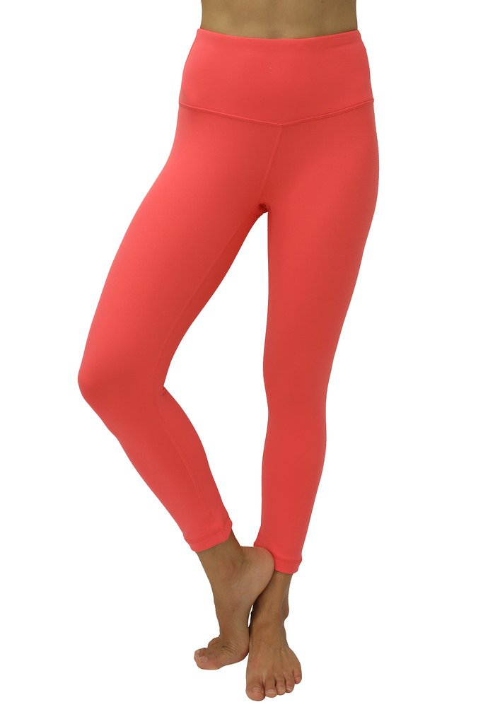 42e0fcd15e Galleon - 90 Degree By Reflex – High Waist Tummy Control Shapewear – Power  Flex Capri -Mango Flame L