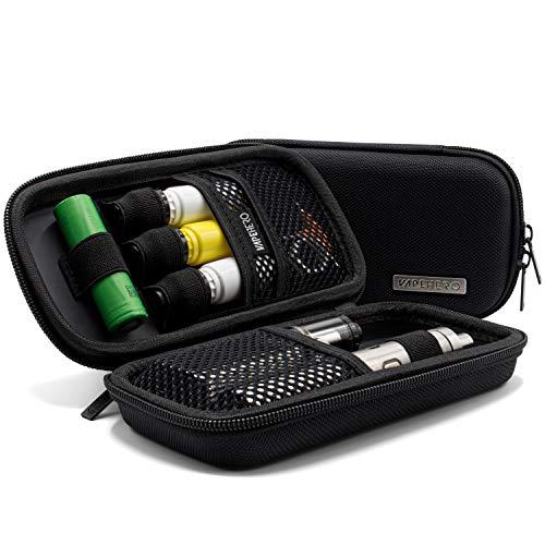 VapeHero® E-Zigarette Tasche   Dampfer-Etui für Liquid und Zubehör   Extra Strap für 18650 Batterie und Liquid…
