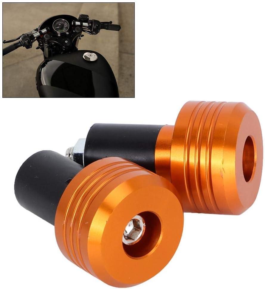 embouts en aluminium de moto en alliage daluminium pour guidon Poign/ées de moto Couleur titane