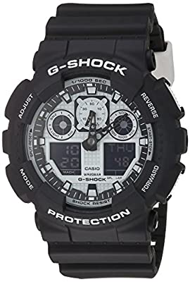 G-Shock GA-100BW-1A White and Black Series Luxury Watch - Black / One Size from G-Shock