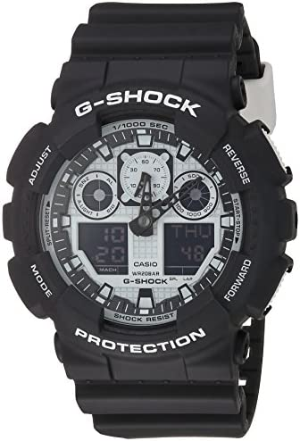 Casio G-Shock GA-100BW-1A White and Black Series Luxury Watch