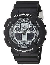 Casio Men's G-Shock GA100BW-1A Black Resin Quartz Watch