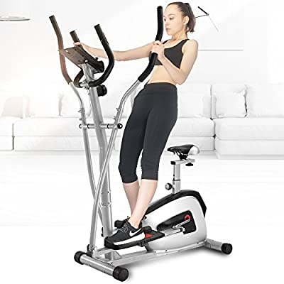 Ainfox Fitness Equipment Elliptical Bike with Seat Exercise Bike Body Rider for Home Office