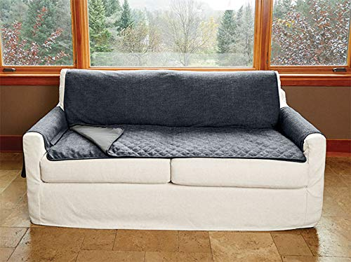 - Orvis Grip-Tight Furniture Protector with Removable Pad/XL Sofa, Blue Tweed,