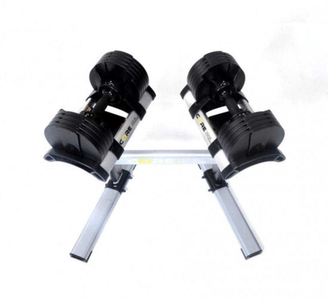 CoreHome Fitness Mancuernas Ajustables y Soporte (2-20 Kg): Amazon ...