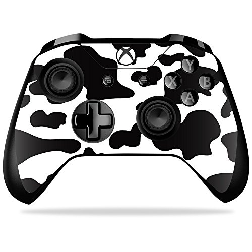 MightySkins Skin for Microsoft Xbox One X Controller - Cow Print | Protective, Durable, and Unique Vinyl Decal wrap Cover | Easy to Apply, Remove, and Change Styles | Made in The USA ()