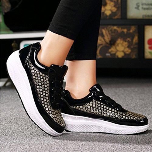 Basket Femme Pour Mode Voyage Vous Antidérapant LFEU de Glitter Rendez Sport orthoptique Automne Basket Chaussure Compensé Paillette FUf0dqw