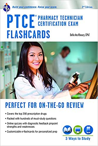 PTCE - Pharmacy Technician Certification Exam Flashcard Book + ...