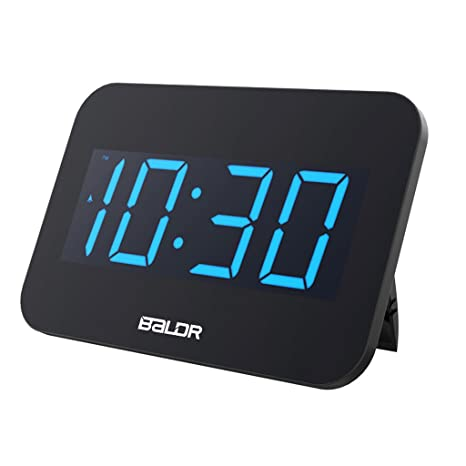 Baoblaze Reloj Digital de Alarma de Escriotorio Display LED - UE Plug