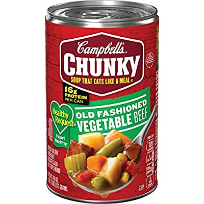 Campbell's Chunky Healthy Request Old Fashioned Vegetable Beef Soup, 18.8 oz. Can