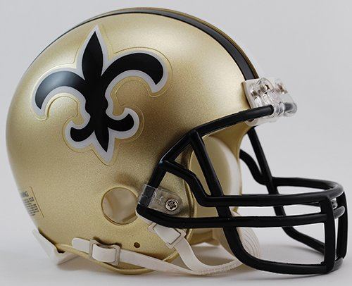 1999 Helmet Football - New Orleans Saints 1976-1999 Throwback Riddell Mini Football Helmet - New in Riddell Box