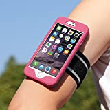 MoKo Armband for iPhone 6s / iPhone 6, Silicone Armband for Running, Hiking, Biking, Walking or Any Fitness Activity - Key Holder Slot, Full Protection, Perfect Earphone Connection, HB COLOR 2