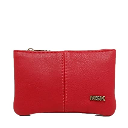 Misako Monedero Veris | Monedero para Mujer, Portamonedas Color Burdeos, 3x12x8cm