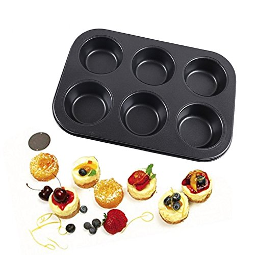 SHEbaking 6 Cup Professional Regular Nonstick Muffin Pan Carbon Steel Bakeware Mold (2) by SHEbaking (Image #4)