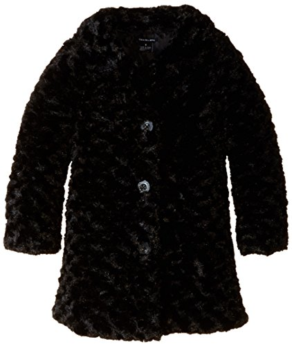 Price comparison product image Calvin Klein Little Girls' Toddler Colored Faux Fur Jacket, Black, 3T