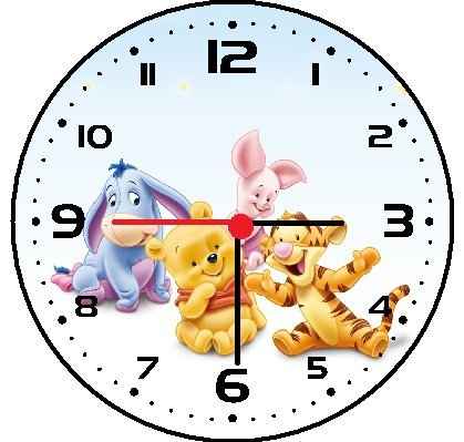 (Winnie The Pooh Baby Wall Decor Clock)