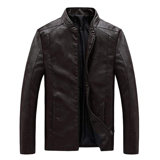 Amazon.com: Oudahood Mens PU Jackets Coats Motorcycle Leather Jackets: Clothing