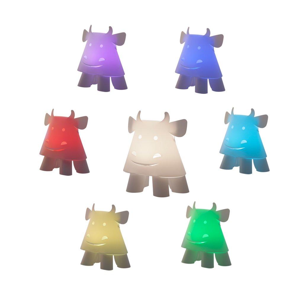 Zzzoolight Miniギフトコレクション動物ライトCartoon Animalライト子供ナイトライト牛ナイトライト 5inch*4.1inch*5.5inch  マルチカラー B072S9N9H4