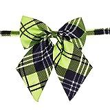 Fashion Plaid Pet Dog Cat Large Bow Ties Adjustable Dog Bowties Pet Grooming Dog Collar Pet Supplies