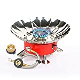 RioRand Portable Collapsible Windproof Outdoor Back-Packing Gas Camping Stove