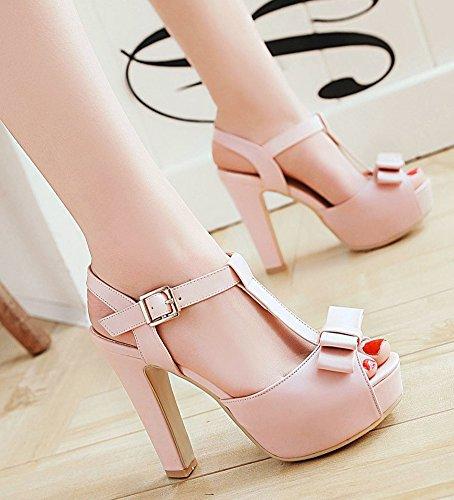 Pink Bow Aisun With Sweet Sandals Women's Peep Toe Platform fxaTq8wf