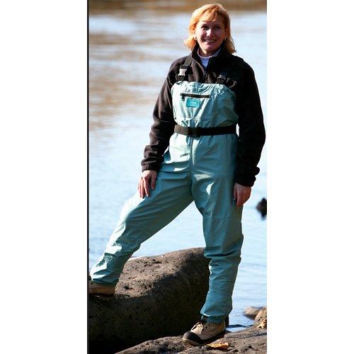 Caddis Women's Attractive Teal Deluxe Breathable Stocking Foot Wader, Medium Queen, Outdoor Stuffs