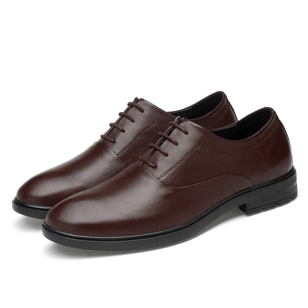 Ofgcfbvxd Lässige Flache Schuhe für Männer Oxford lässig lässig lässig einfache Klassische einfarbige Schuhe (Slip On optional) Formelle Rutschfeste Schnürschuhe (Farbe   Slip On schwarz, Größe   44 EU)  8f61e2