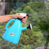 Calunce Garden Accessory Sprayers Multifunction Watering can water the plants and Spray kettle 1L,blue
