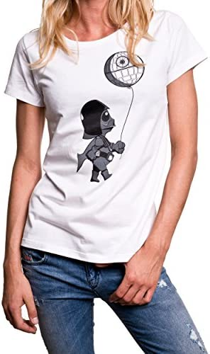 Baby Vader z gwiazdą śmierci – zabawny t-shirt damski: Odzież