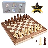 Best Chinese Checkers Game Sets - 15 Inches Wooden Chess Set-2 Extra Queens-Handmade Portable Review