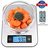 small kitchen scale - Keemo Digital Kitchen Food Scale,Small Cooking Scale with Stainless Steel Panel, Fast Unit Switching Kitchen Weighing Scale, Holds Up to 11 Ibs/5 Kg (Digital Kitchen Food Scale Silver-6)