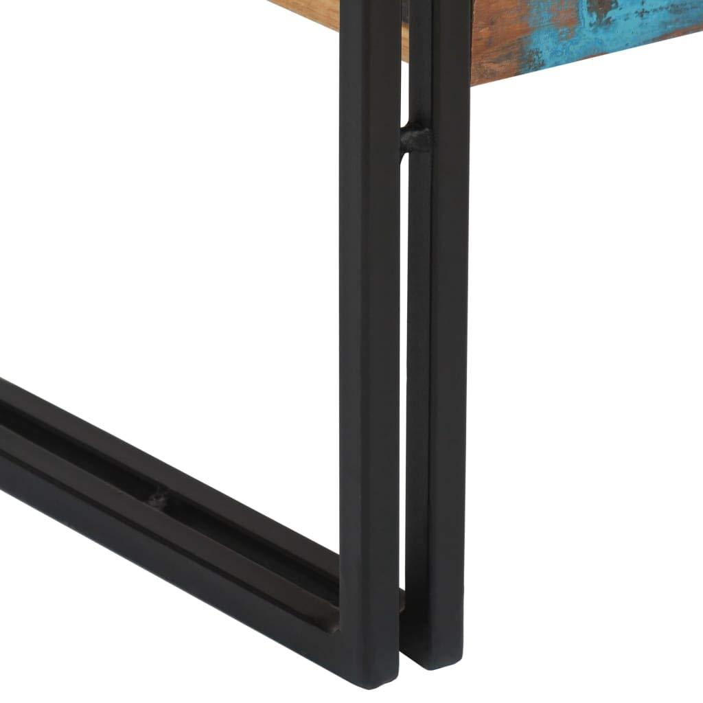 Festnight Mesa Consola con 3 Cajones y 1 Estante Madera Maciza Reciclada 120x30x76 cm