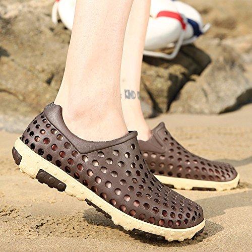 Sommer Das neue Freizeit Sandalen Männer Trend Atmungsaktiv Lochschuhe Rutschfest Strandschuhe Jugend Trendschuhe ,braun,US=8.5?UK=8,EU=42?CN=43