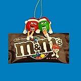 """Kurt Adler 3.5"""" Red & Green M&ms Sitting on Bag Ornament"""