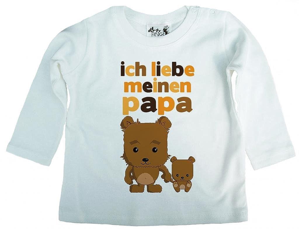 Dirty Fingers Ich Liebe Meinen Papa, Bären, Baby Mädchen T-Shirt langärmlig Bären