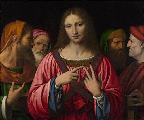 The Perfect Effect Canvas Of Oil Painting 'Bernardino Luini Christ Among The Doctors ' ,size: 12 X 14 Inch / 30 X 37 Cm ,this Best Price Art Decorative Prints On Canvas Is Fit For Bedroom Gallery Art And Home Decoration And Gifts by Leo Brown