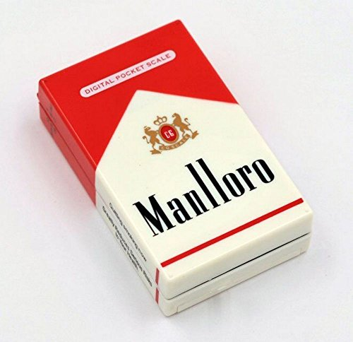 Marlboro Cigarettes (PoLLux Mini Digital Pocket Scale 200g x 0.01g Gold Diamond Jewelry Gram Cigarette Case)